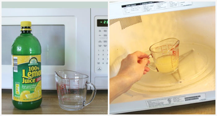 Homemade mixture for microwave cleaning