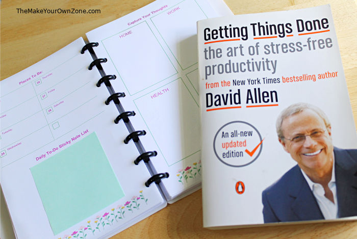 DIY planner page using Getting Things Done principles