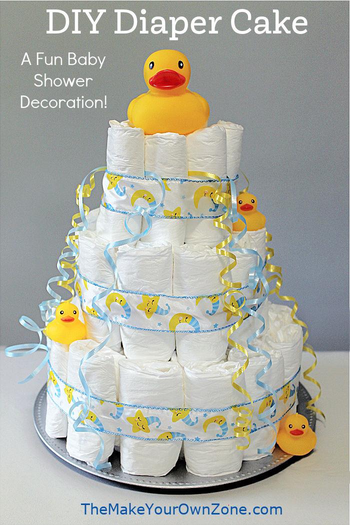 How to make a 3 tier diaper cake