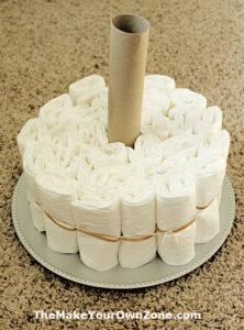 How to build a diaper cake