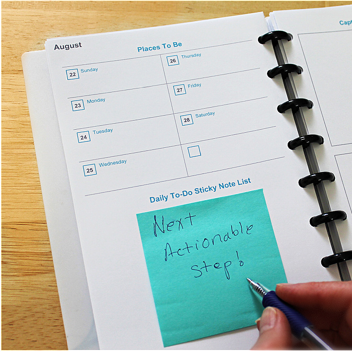 """Make A """"Getting Things Done"""" Planner"""