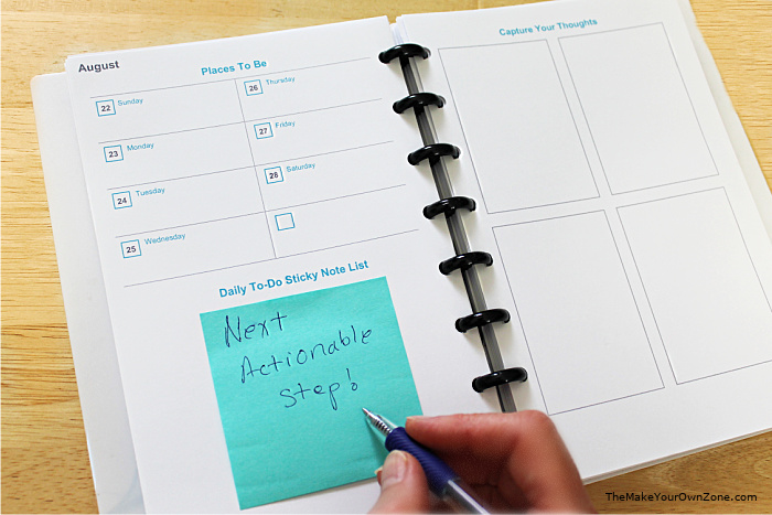 make your own Getting Things Done Planner