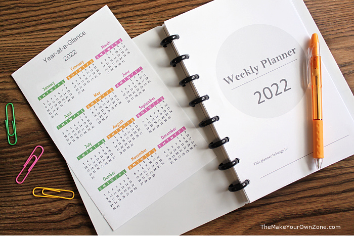 free planner pages for disc bound notebooks