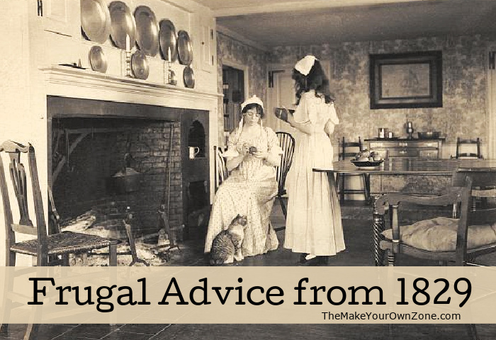 Frugal advice from old times