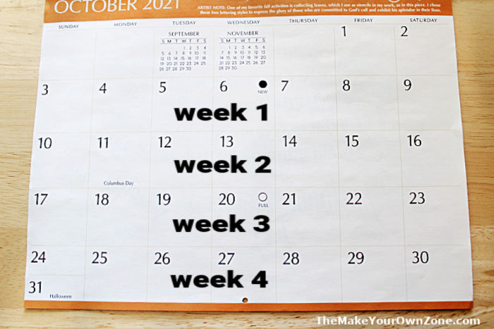 picture of a calendar to help with printing planner pages back-to-back