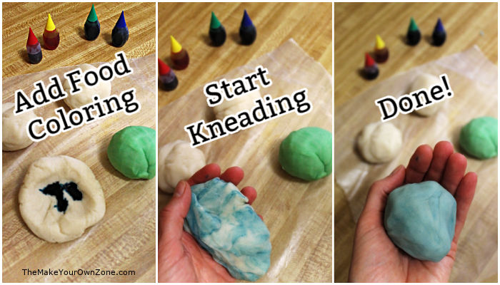 How to color your homemade play dough