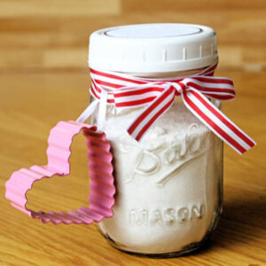 A jar mix to make homemade play dough